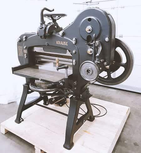 Karl Krause Leipzig Schneidemaschine